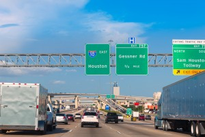Houston Katy Freeway I 10 and Beltway stacked traffic levels most dangerous highway