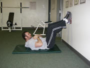 Abdominal Strength Training - Abdominal Crunch with feet on wall