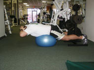 Back Strength Training – Reverse Hyperextension on a Ball