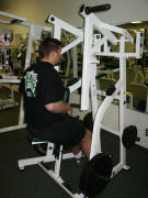back strength training: hammer low row