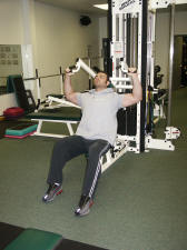 Should Strength Training – anterior deltoid – machine military press
